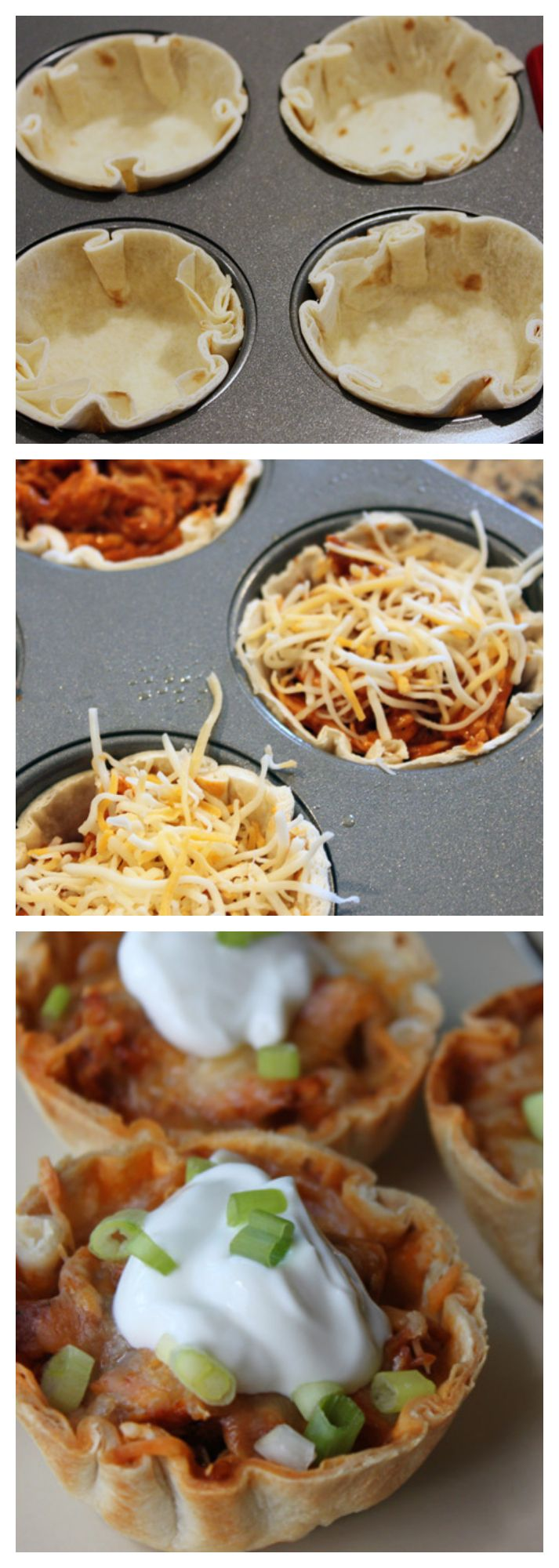 #HowTo: Easy-to-Eat Chicken Enchilada Cups