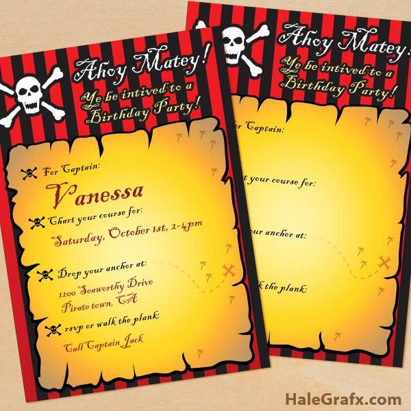 Kit de Piratas para Imprimir Gratis.