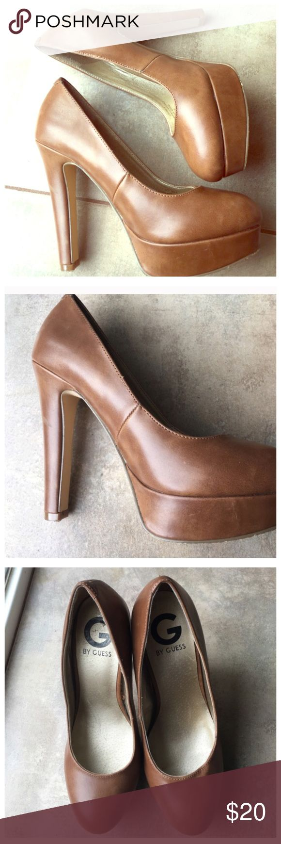 Camel pumps Beautiful tan color. Thicker heel is easier to walk in. Comfortable and stylish! G by Guess Shoes Platforms