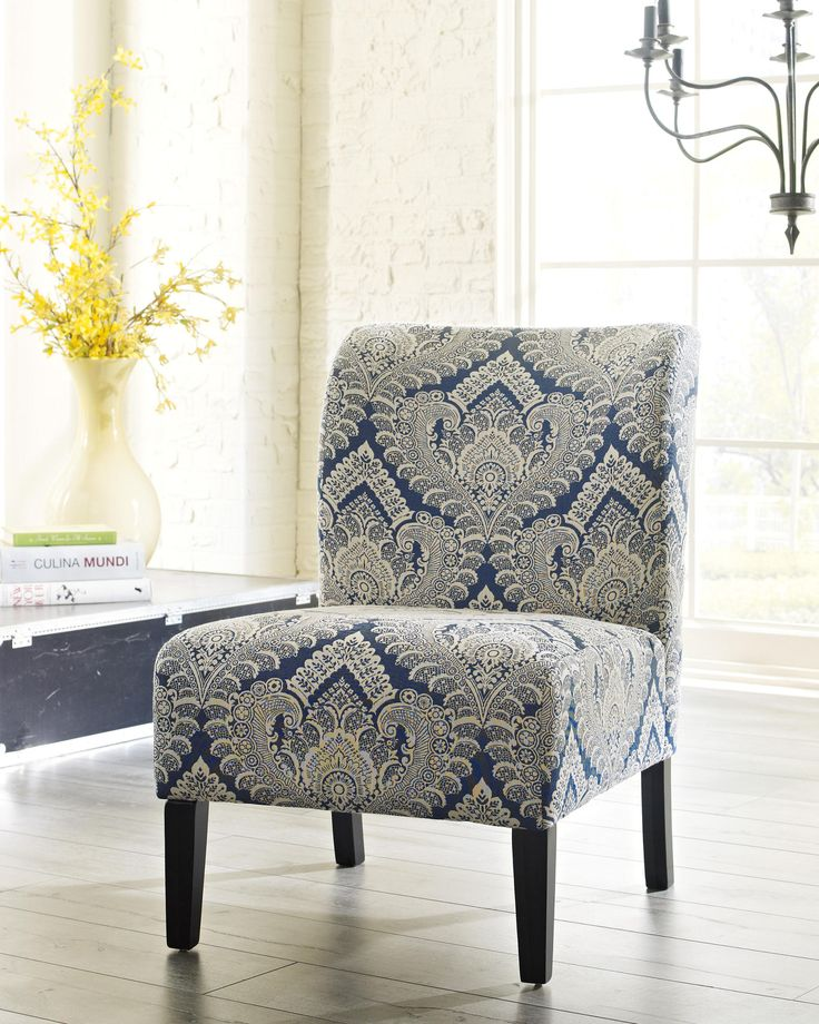 Breathe New Life Into Your E With The Delightfully Vibrant Honnally Accent Chair Blue