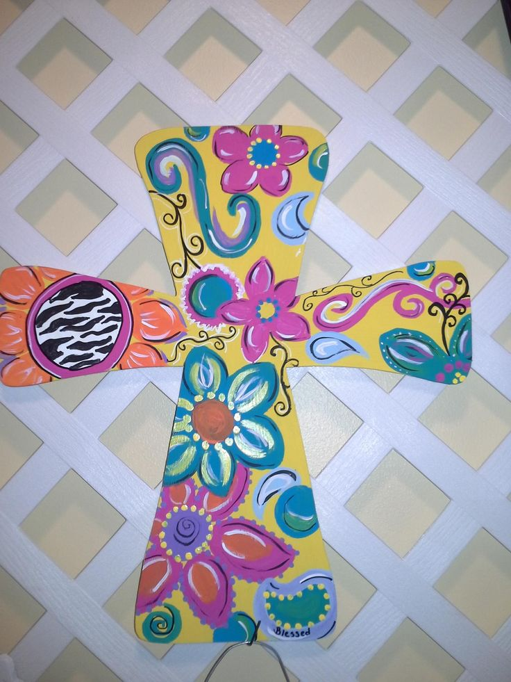 Painted Wooden Crosses Crafts Easy Craft Ideas