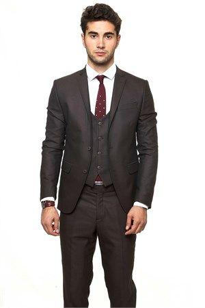 WSS Wessi Yelekli Slimfit Poliviskon Takım Elbise