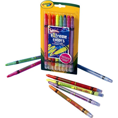 Crayola Extreme Colors Twistable Crayons, 8-Count