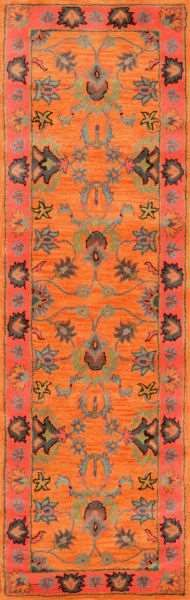 This eclectic area rug is hand tufted out of 100% wool and accents any room décor. If you plan to tie together any fashionable space, then this vibrant rug will assist you well.