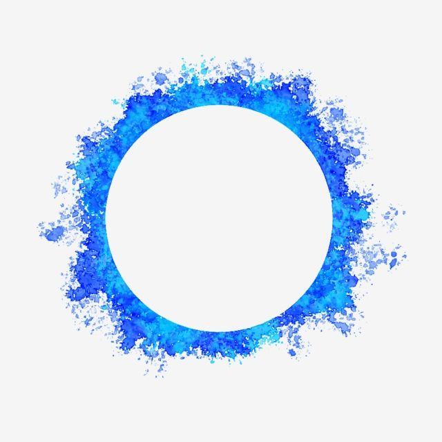 Blue Circle Hole Watercolor Brush Blue Circle Hole Png