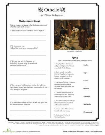 William Shakespeare's Othello. Iago: Analysis of a Villain - Essay Example