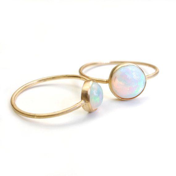 Gouden ringen met opaal