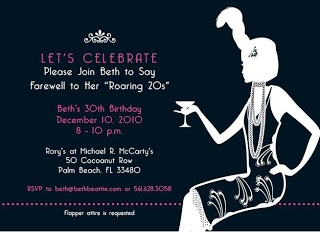 Beth Beattie Branding, PR and Events: Roaring 20s Flapper Themed 30th Birthday!