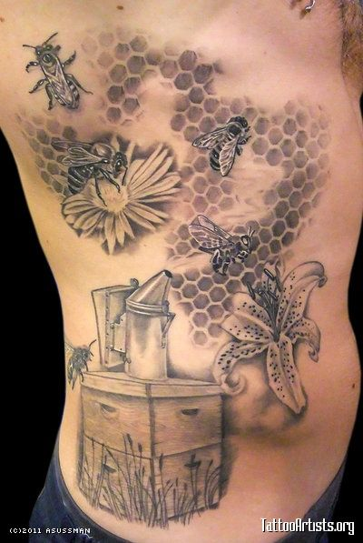 I would love to have a honey bee tattoo...probably on my arm though.