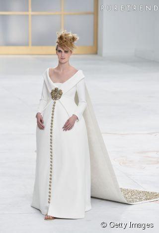 Chanel Couture : la mariée très enceinte du défilé Automne-Hiver 2014/2015 | Chanel Couture : la mariée très enceinte du défilé Automne-Hive...