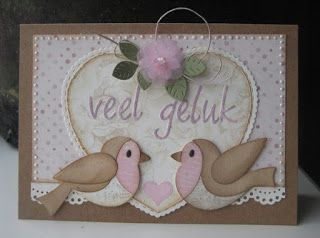 Handmade card by DT member Boukje with Collectables Eline's Birds (COL1392), Charming Alphabet (Col1397) and Craftables Hearts - Basic Shape (CR1351) from Marianne Design