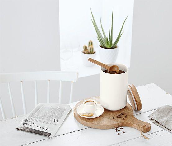 Barista-Kaffeedose mit Kaffeelot
