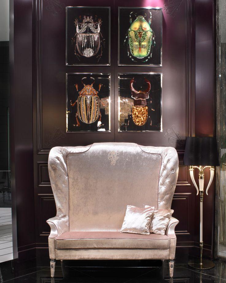 Swarovski Crystal Scarab Wall Art Luxe Italian Designer Furniture Interiors So Beautiful