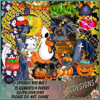 """CCDesigns: New In Store's """"Spookiii Boo Mix 1 (TS/CU/S4H)"""""""