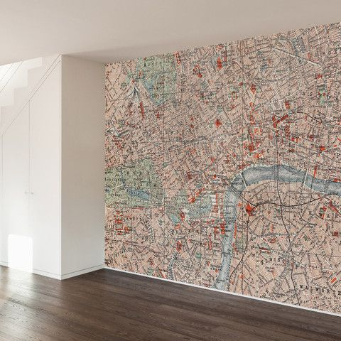 Vintage Map Wall Mural Decal - WallsNeedLove