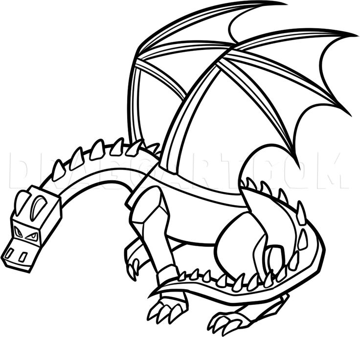 how to draw ender dragon stepstep drawing guide