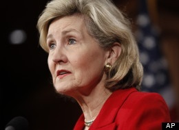 """Kay Bailey Hutchison """"I think relating to the middle class ... this is a family who has raised five boys,"""" Hutchison said. """"They relate to what moms are facing all over this country. That's a hard job, and I think relating to the people, I think they're going to show that. Now that people are focused, I think Ann and Mitt Romney are exactly the kind of first family that we need."""""""