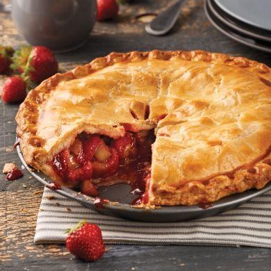 Tarte fraises et rhubarbe - Recettes - Cuisine et nutrition - Pratico Pratique