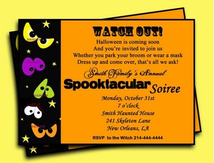 17 best Happy Halloween invitation wordings for parties, office - office party invitation templates