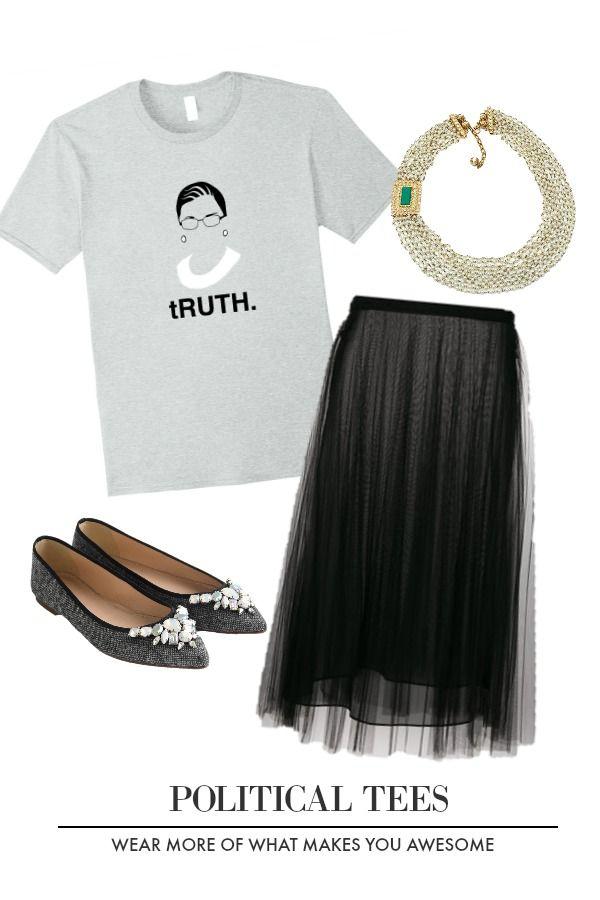 c2562e99dad1 RBG Ruth Ginsburg Supreme Court Feminist Political T-Shirt #Truth #RGB #Ruth