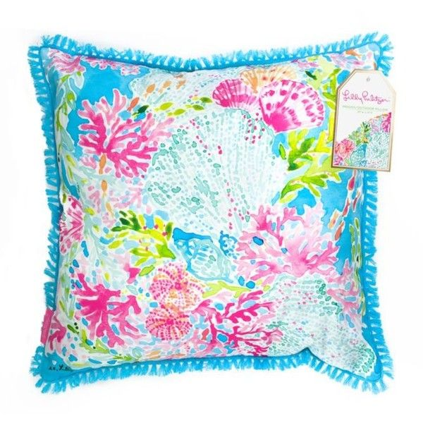 Lilly Pulitzer Coral Cay Large Pillow ($40) ❤ liked on Polyvore featuring home, home decor, throw pillows, coral cay, coral home accessories, lilly pulitzer home decor, coral home decor, coral accent pillows and lilly pulitzer throw pillows