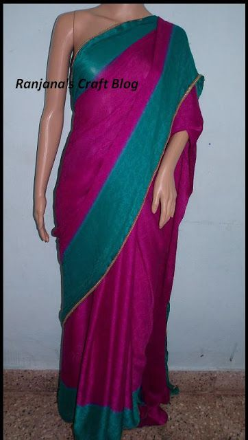 Quick way to design a saree with a lace