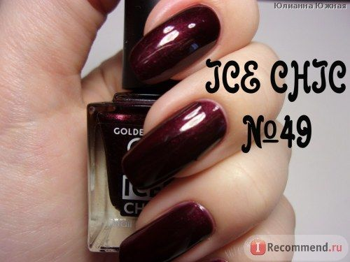 Лак для ногтей Golden Rose ICE CHIC фото