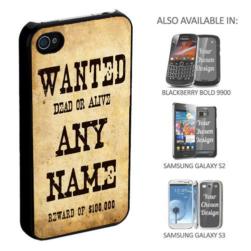 Personalised Wanted Phone Cover - yourgifthouse