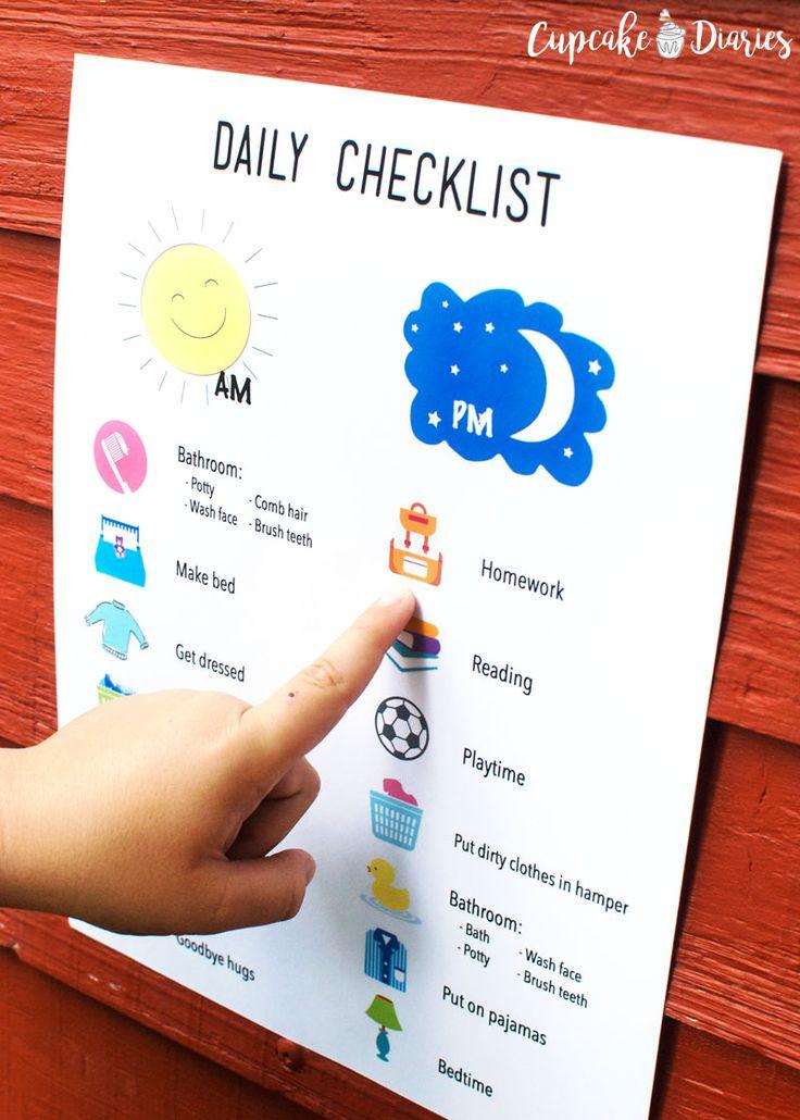 Daily Checklist for Kids #LetsGoLALA #ad