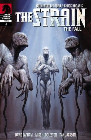 From #Director #GuillermodelToro and #Novelist: #ChuckHogan #TheStrain: #TheFall #4 --  #DarkHorse #Comics -- #Writer: #DavidLapham #Artist: #MikeHuddleston #Colorist: #DanJackson #CoverArtist: #EMGist