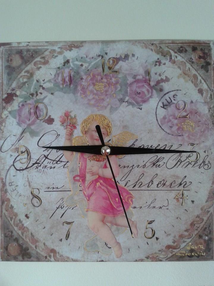Romantic Wall Clock- handmade Copyright@ Laura Ciocoiu