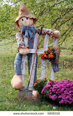 Google Image Result for http://image.shutterstock.com/display_pic_with_logo/113263/113263,1191528875,1/stock-photo-autumn-scarecrow-with-picket-fence-garden-rake-and-colorful-mums-shallow-dof-with-trees-in-the-5856316.jpg
