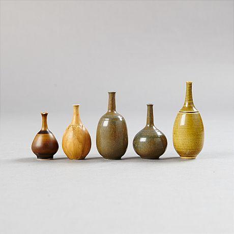 Vaser skålar miniatyrer bl a Höganäs Kungl Dansk