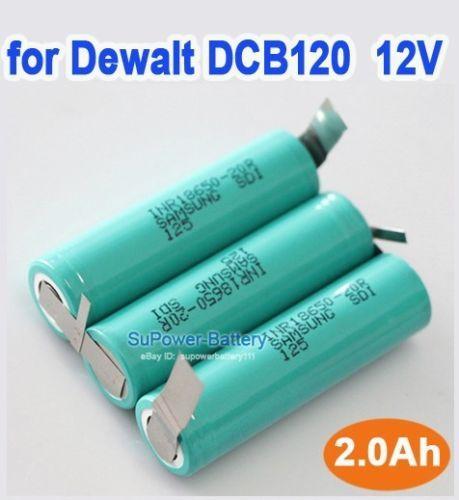 Repair-DEWALT-DCB120-12-Volt-Max-12V-Lithium-Ion-Li-ion-Battery-Pack-2-0Ah-24Wh