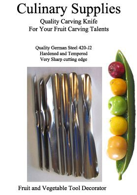 Culinary Supplies UU, VV Set of 7 by CulinarySupplies.Org  your online fruit and vegetable carving store. Find this item at http://culinarysupplies.org/uu-vv-garnish-set-of-7-p-2432.html
