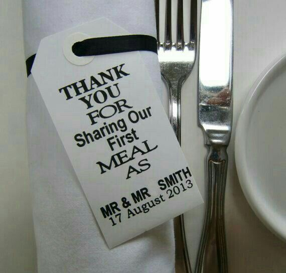Mr & Mr place dinner place cards