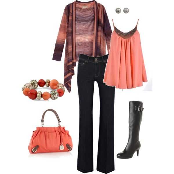 Just Peachy: Stylestyl Inspiration, Style 16, Peachy, Black Heels, Lislyn Polyvore Com, Style Styl Inspiration