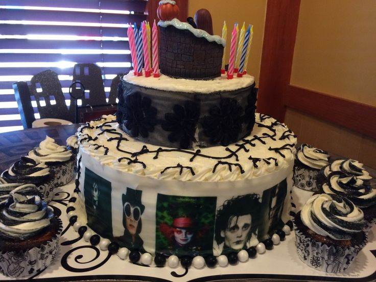 Johnny Depp Tim Burton Birthday Cake Cakes Pinterest
