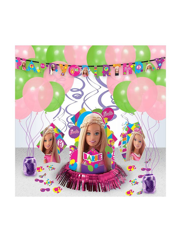 Best 25 barbie party decorations ideas on pinterest for Decoration barbie