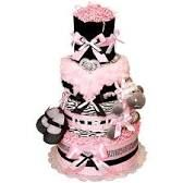 Image result for zebra and red print diaper cake