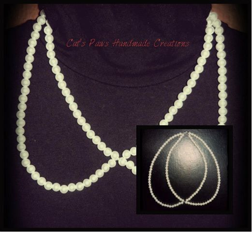 ~ Peter Pan Collar Pearl Necklace ~