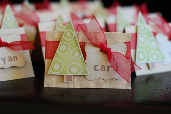 Cute Christmas Place Cards