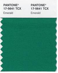 Pantone 17-5641 TCX, Emerald - Pantone Colour of the year 2013