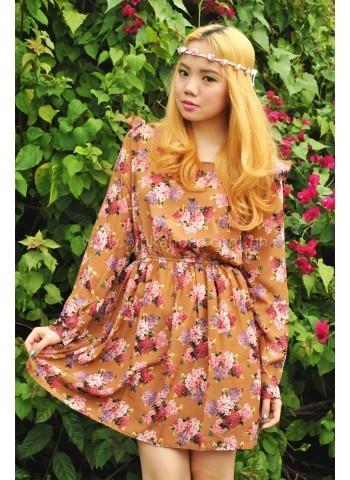 Floral-Print-Silk-Ruffle-Dress