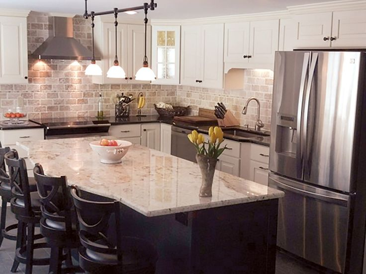 Derry New Hampshire Kitchen Renovation Features CliqStudios Mendota Painted  White Cabinets