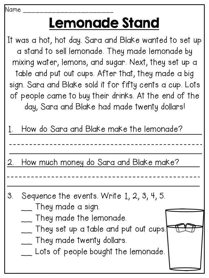 2nd Grade Worksheets | Reading comprehension worksheets ...