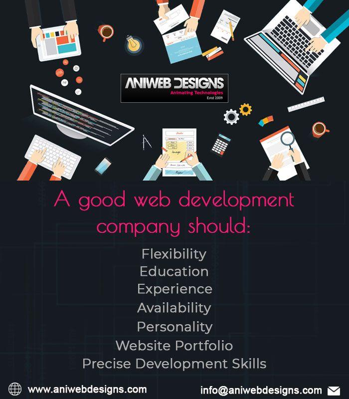 Aniwebdesigns A Good Web Development Company Should Website Portfolio Precise Development Skills Expe In 2020 Web Design Development Web Development Company