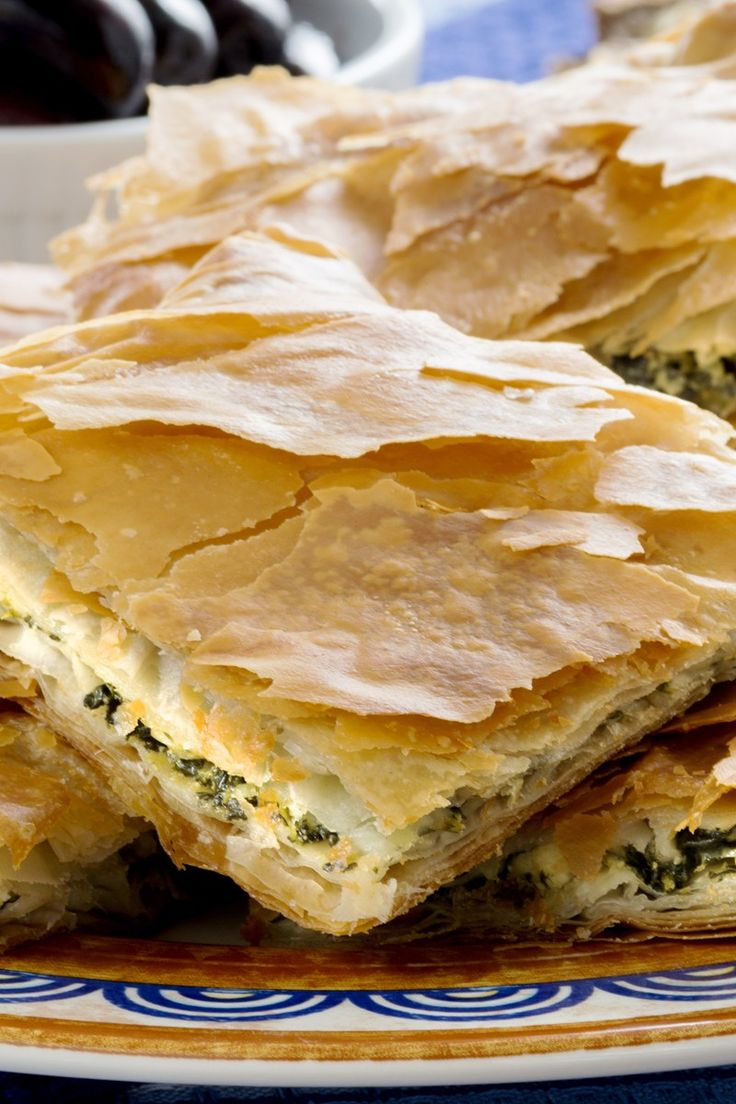Spanakopita (Greek Spinach Pie) Recipe | reciepes | Pinterest