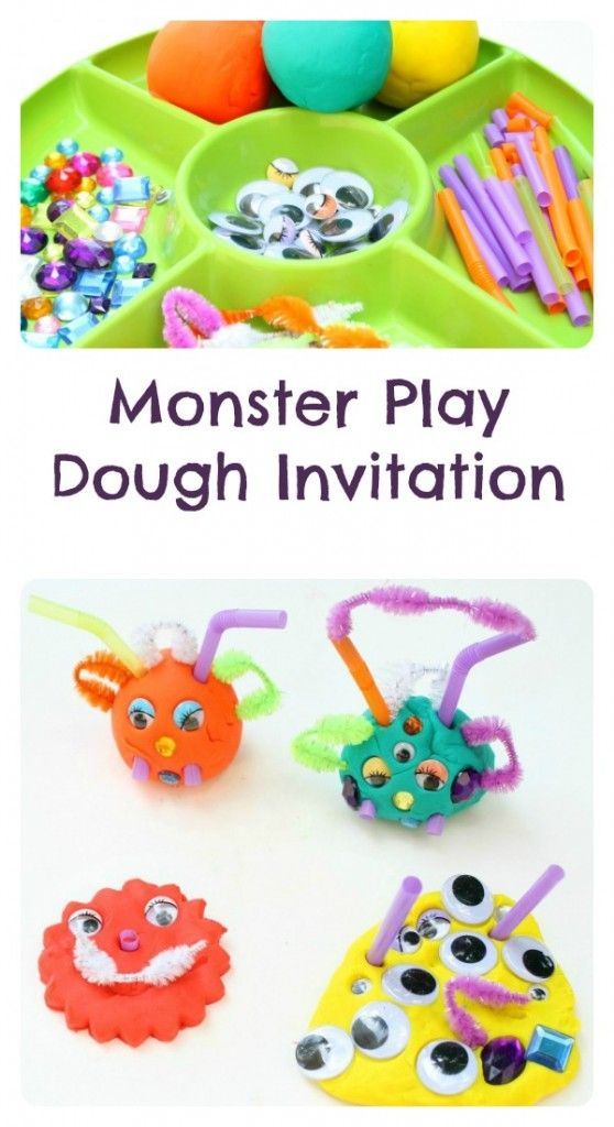 Monster Play Dough Invitation~Halloween Activity for Kids