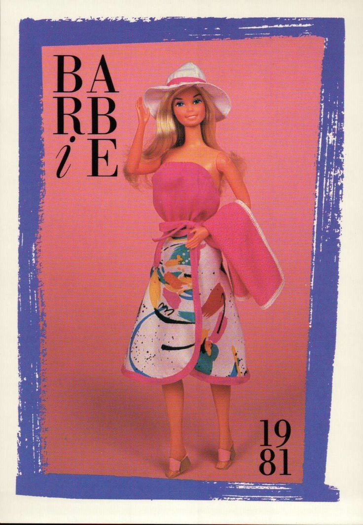 "Barbie Collectible Fashion Card "" Beach Dazzler "" 1981 